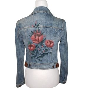 Pilcro and Letterpress Rosegarden Denim Jacket XS